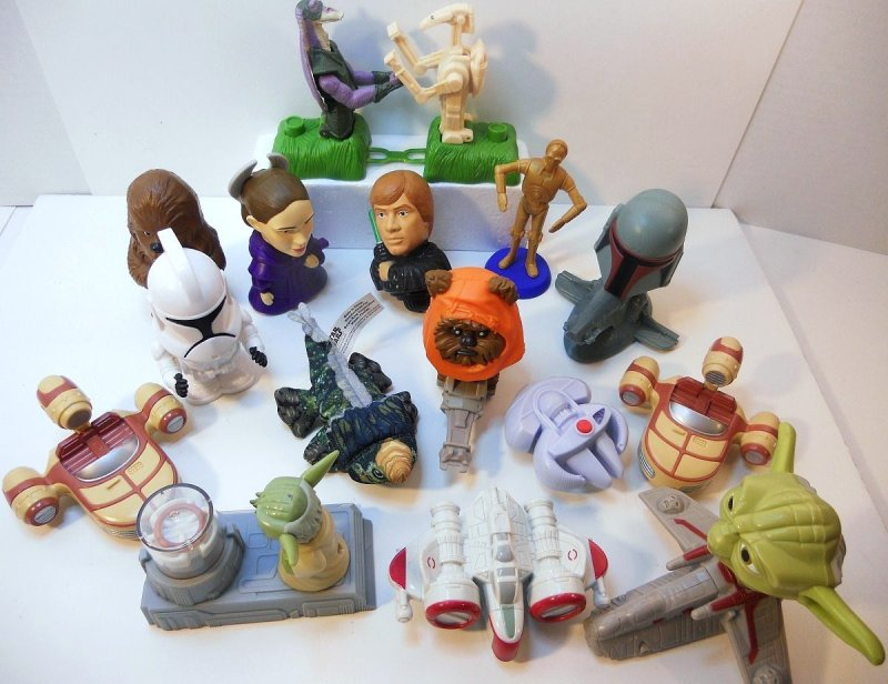 Fast Food Toys : Star wars fast food toy lot mcdonalds and burger king