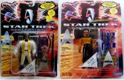 Star Trek Generations Geordi LaForge and Worf in 19th Century costume 2 figures