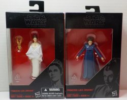 Star Wars Black Series Princess Leia Organa 3.75 in 2 figure lot ANH and FW