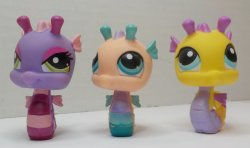 Littlest Pet Shop Seahorse 142, 426 and 1314 Pet lot of 3 loose