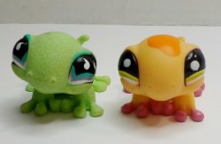 Littlest Pet Shop Gecko #751 and #1365 loose LPS lizards