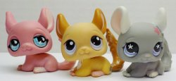 Littlest Pet Shop Chinchilla #495, 599, 1102 set of 3 pets loose