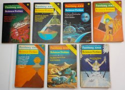 The Magazine of Fantasy and Science Fiction 1975 lot of 7 magazines