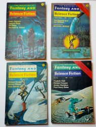 The Magazine of Fantasy and Science Fiction 1976 lot of 4 magazines