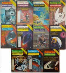 The Magazine of Fantasy and Science Fiction 1977 lot of 11 back issues