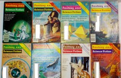 The Magazine of Fantasy and Science Fiction 1978 lot of 8 back issues