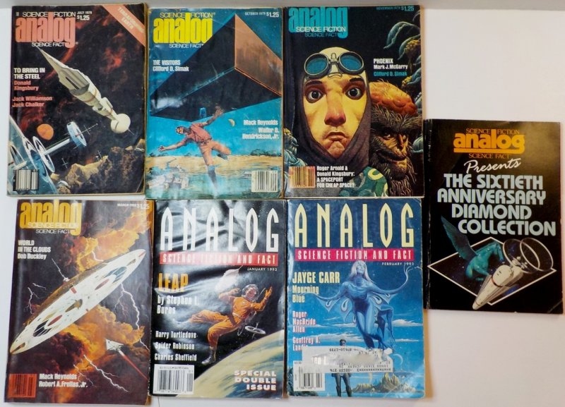 Analog Science Fiction and Fact Magazines Lot of 20