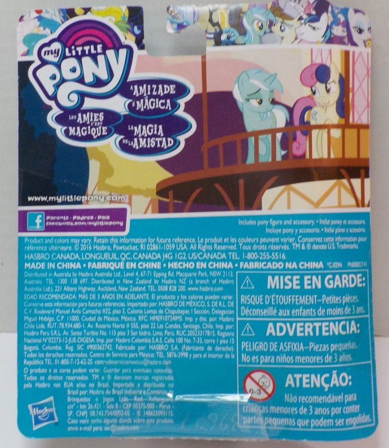 My Little Pony Lyra Heartstrings Friendship is Magic Back