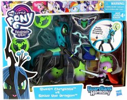 Guardians of Harmony Queen Chrysalis vs Spike the Dragon figure set