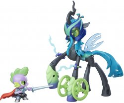 '.Queen Chrysalis and Spike.'