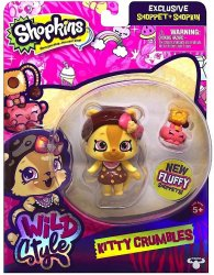 Shopkins Wild Style Kitty Crumbles Shoppet and Camilla Cat Stand