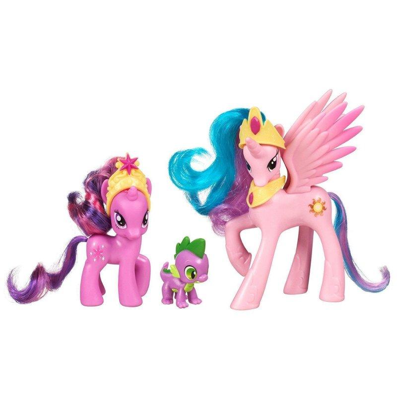 My Little Pony Princess Celestia, Twilight Sparkle, Spike the Dragon