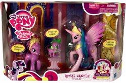 My Little Pony Royal Castle Friends Princess Celestia, Twilight Sparkle, Spike