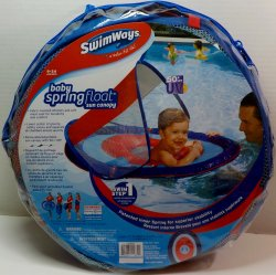 SwimWays Baby Spring float sun canopy, Whale and Sailboat pool float