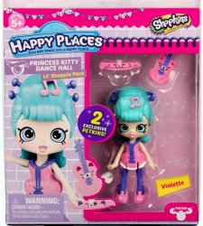 Shopkins Happy Places Violette Lil' Shoppie Pack S3 with 2 exclusive Petkins