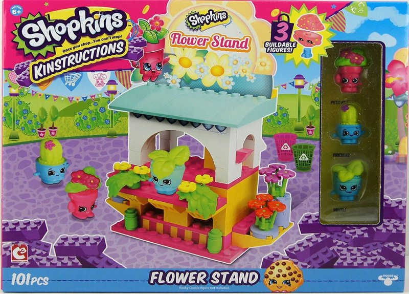 Flower Stand w/ Peta Plant, Prickles, Mintee figures