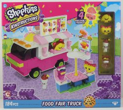 Shopkins Kinstructions Food Fair Truck with 4 buildable food themed figures
