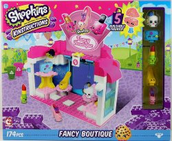 Shopkins Kinstructions Fancy Boutique w/ 5 buildable figures