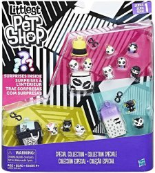 Littlest Pet Shop Black & White Special Collection Series 1 set B