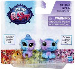 Littlest Pet Shop Special Edition minis Indiglow Apely & Cerulean Sparkle