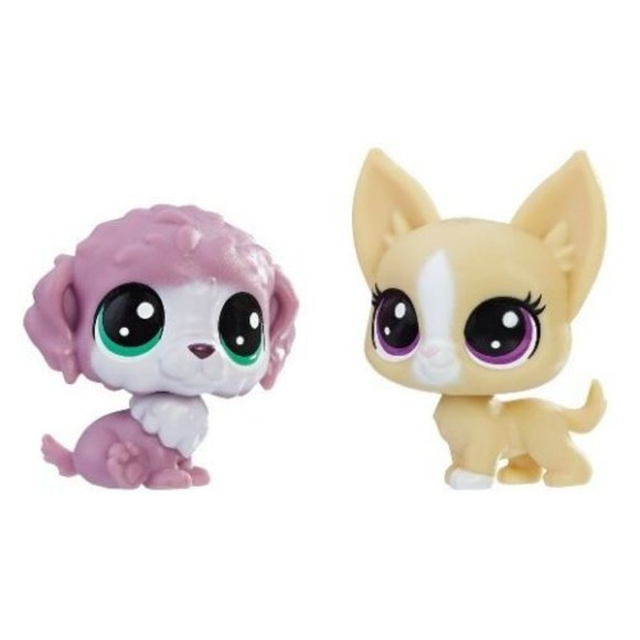 Littlest Pet Shop Chunky Waterfluff 2-86 and Mayor Perrito 2-87