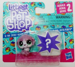Littlest Pet Shop Chunky Waterfluff and Mayor Perrito Series 2 mini pack