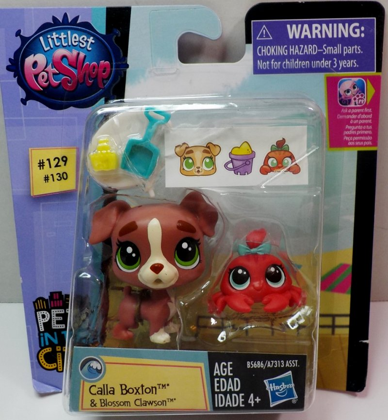 Littlest Pet Shop Calla Boxton PC129 & Blossom Clawson PC130