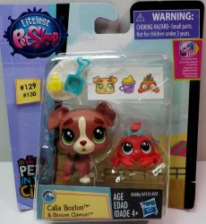 Littlest Pet Shop Calla Boxton PC129 & Blossom Clawson PC130 2 pack