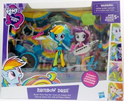 My Little Pony Rainbow Dash Rockin' Music Class Equestria minis Playset
