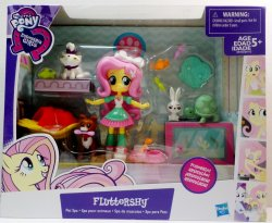 My Little Pony Fluttershy Pet Spa mini doll Equestria Girls Playset
