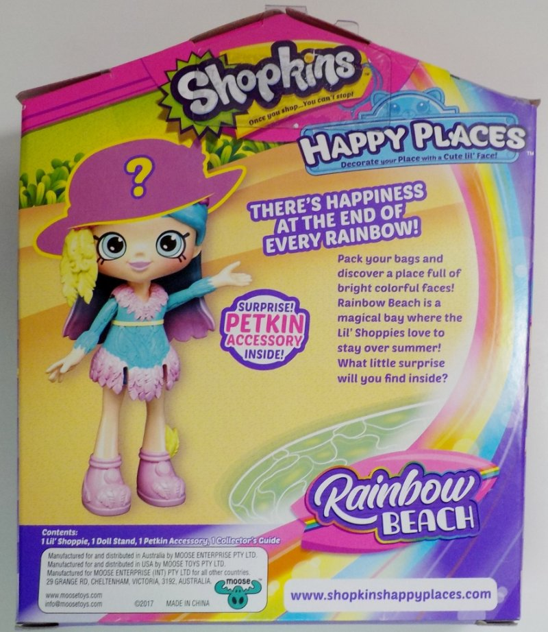 Shopkins Happy Places Rainbow Beach Lil' Pony and Shoppie Doll