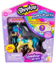 Shopkins Happy Places Rainbow Beach Lil' Shoppie Faith Feathers