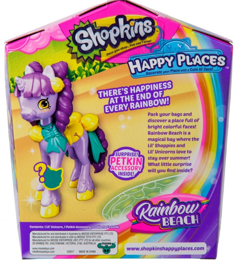 Shopkins Happy Places Rainbow Beach Lil' Pony figure