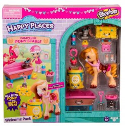 Shopkins Happy Places Pampered Pony Stable w/ Poni Crumbles