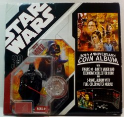 Star Wars 30th Anniversary Coin Album w/ Darth Vader figure
