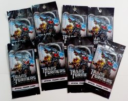 Transformers: Dark of the Moon trading cards 8 individual packs