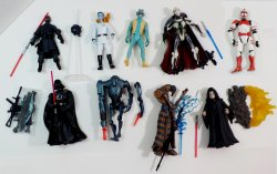 Star Wars 3.75 in loose figure lot w/ Vader, Maul, Thrawn, Grievous, Palpatine