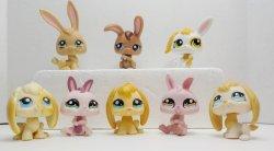 Littlest Pet Shop Bunny Rabbits 95, 531, 610, 864, 1417, 1366, 1466, 1766 lot