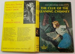 Nancy Drew #26 The Clue of the Leaning Chimney 2nd PC white I EP 1967 print
