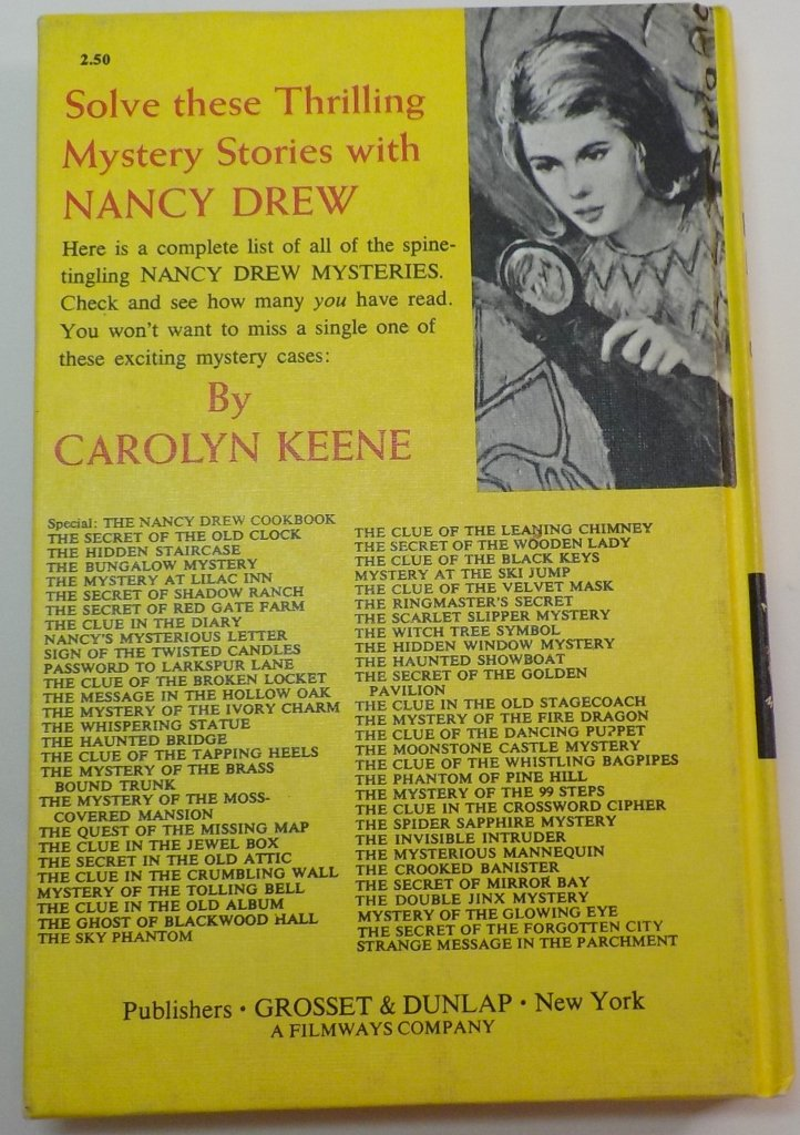 Nancy Drew Mystery Stories #11 2nd Picture Cover