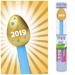 Golden Easter Egg Pez in Tube 2019 dated Exclusive Retired