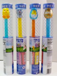 Easter 2019 PEZ Chick, bunny, blue egg, Golden Egg in tube