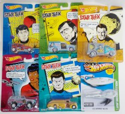 '.Hot Wheels Star Trek cars.'