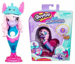 Shopkins Happy Places Royal Pearl Seahorse Mermaid Tails S6