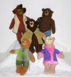 McDonalds Country Bears Happy Meal Set of 5 2002