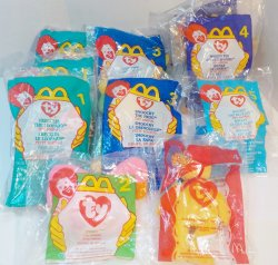McDonald's TY Teenie Beanie Babies Happy Meal toys 1997, 1999, 2004