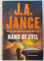 Hand of Evil by JA Jance HC DJ First Edition 2007
