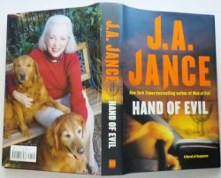 '.Hand of Evil by JA Jance.'