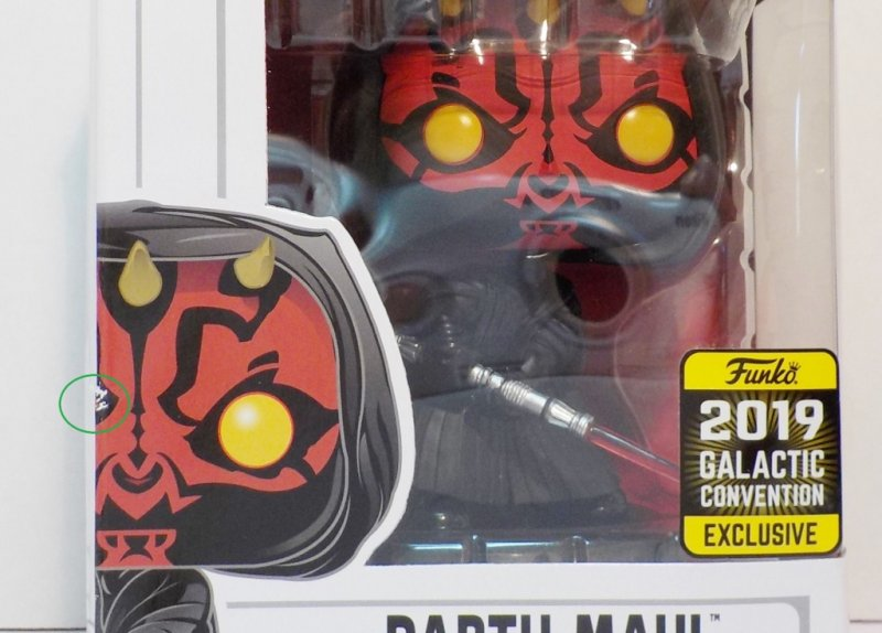 Star Wars Celebration Exclusive 2019 Funko POP (see circled area)