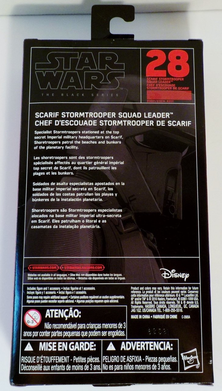 Star Wars Black Series Scarif Stormtrooper action figure